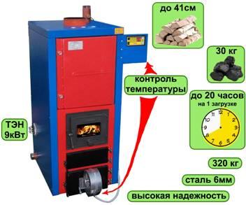 Котел длительного горения СТАРТ-30-Long на 30кВт